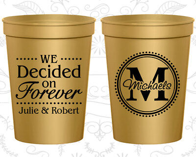 Personalized Party Cups, Monogram Cups, Monogrammed Cups, Plastic Cups