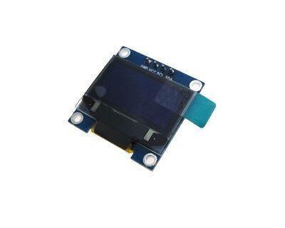 Hq 0.96 12864 Oled Graphic Display Module I2c Iic Lcd - Color Blue
