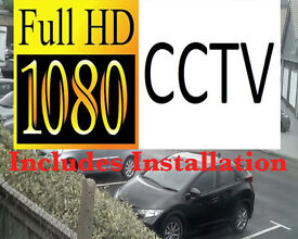 Full HD 1080p CCTV Security Camera System Fully Fitted. Includes Installation and Mobile Phone View