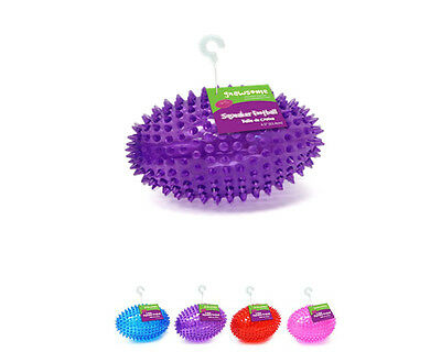 Gnawsome Medium Football Dog Toy with Squeaker -massages teeth- assorted colors