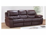 BARGAIN !! 3 str Leather Sofa, 2 Arm Chairs , Dining Table 4 Chairs, Wooden Bed and Ikea Sofa Bed