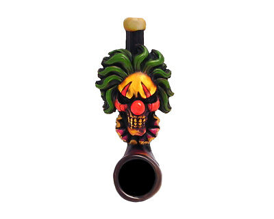 Scary Clown Handmade Tobacco Smoking Mini Hand Pipe Evil Creepy Circus Halloween