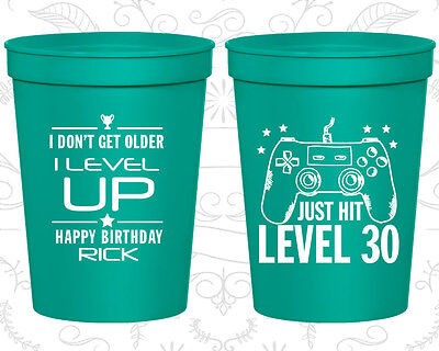 Personalized 30th Birthday Favor Favor Cups Custom Cup (20179) Video Game](30th Birthday Cups)