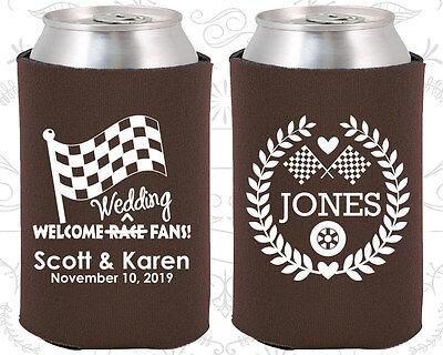 Personalized Wedding Koozies Custom Koozie Gifts (589) Race Car, Racing Favors