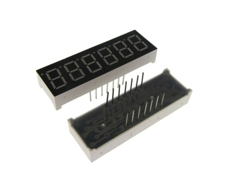 "0.36"" 6 Digit 7-Segment LED Display DIP Common Cathode  - Red"