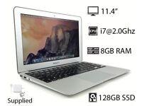"11.4"" Apple MacBook Air 2Ghz Core i7 8GB Ram 128GB SSD Final Cut Pro Logic Pro Microsoft Office 2016"