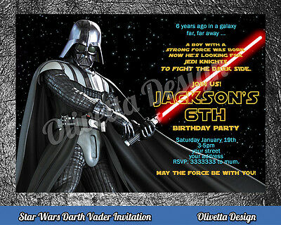 STAR WARS birthday invitation personalized YOU PRINT printable - Star Wars Invitation