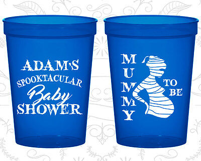 Baby Shower Cups Cup Decorations (90087) Halloween, Mummy To Be (Halloween Baby Shower Decorations)