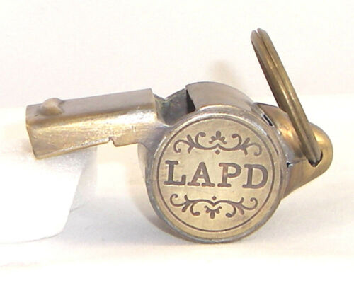 Brass Working LAPD Whistle