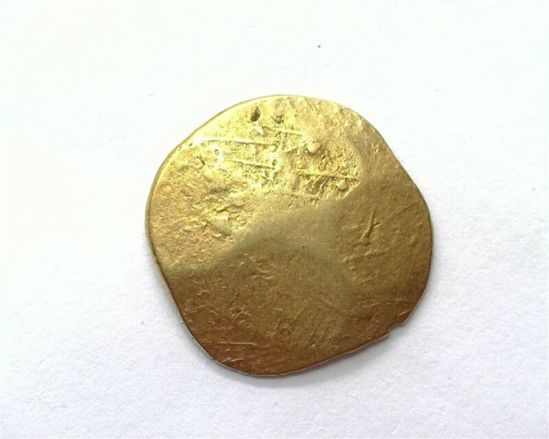 GOLD EXAMPLE OF A SILVER ANCIENT INDIA COIN 3.3g 18mm