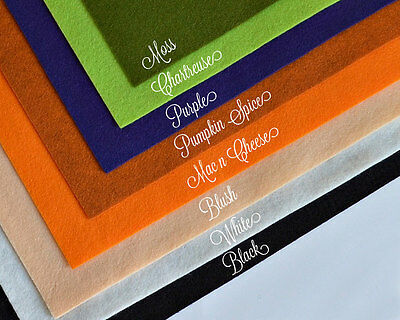 WOW HALLOWEEN Felt Collection, Merino Wool Blend Felt, EIGHT 9