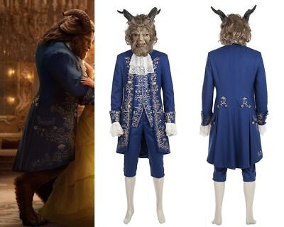 Beauty and the Beast Prince Adam Costume or Mask for Adult Men 2017 Design