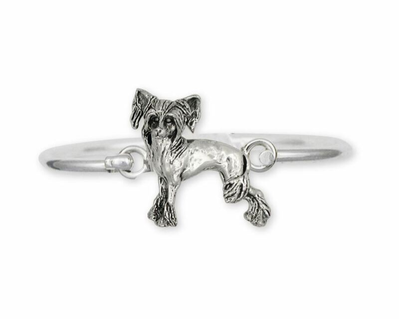 Chinese Crested Bracelet Jewelry Sterling Silver Handmade Dog Bracelet CC2-HB