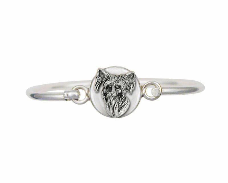 Chinese Crested Bracelet Jewelry Sterling Silver Handmade Dog Bracelet CC1-HB