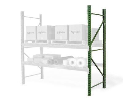 Teardrop Pallet Rack Upright - 96h X 36w - 19000 Lb. Capacity