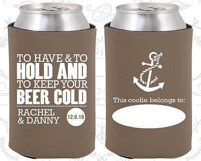 Taupe Wedding Koozies Koozie Favors Gift Ideas Decorations Gifts (99)