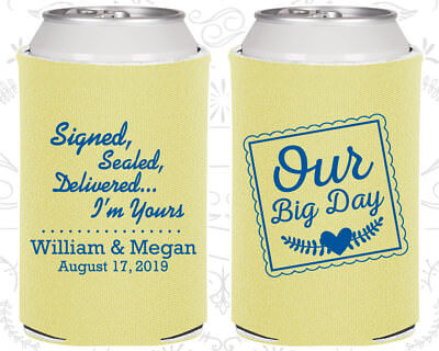 Personalized Wedding Coozies Custom Coozie (591) Our Big Day](Personalized Coozies)