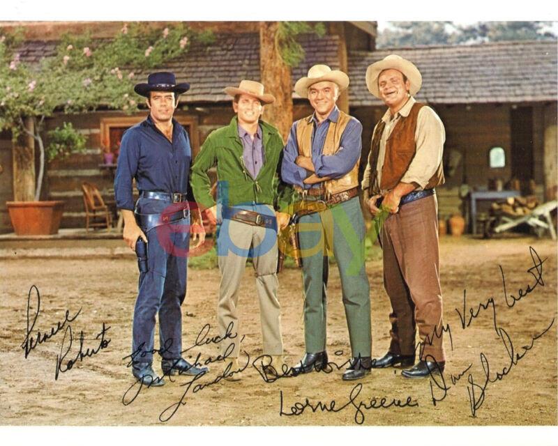 Bonanza Cast Signed 8x10 Autographed Photo reprint