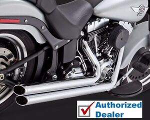 Chrome Vance & Hines Big Shots Staggered Exhaust Pipes 1984-2017 Harley Softail