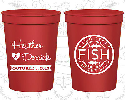 Personalized Wedding Gift Cups Custom Cup (20) Two Less Fish in the Sea - The Wedding Gift