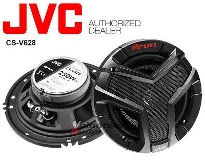 "JVC Drvn Series 6.5"" Coaxial 250W Peak SPK100 4 Ohm Speakers 2-Way CS-V628"