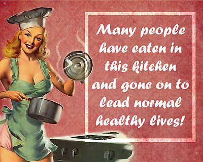Kitchen Humour - VINTAGE ADVERTISING ENAMEL METAL TIN SIGN WALL PLAQUE