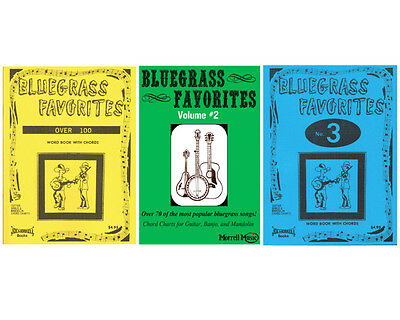 - Morrell Bluegrass Favorites Song Book Pack (Vol 1, 2, 3) w/ Chord Charts