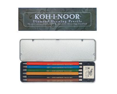 Fallbleistifte Set in Metallbox - KOH-I-NOOR Versatil 5217 mit Farbminen