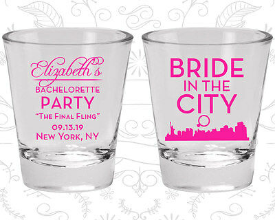 Bachelorette Party Shot Glasses Glass Favors (60162) The Final Fling - Bachelorette Glasses