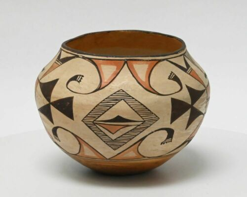 Antique Polychrome Acoma Pottery Jar