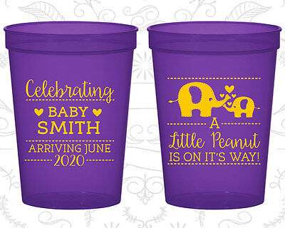 Baby Blue Plastic Cup (Baby Shower Cups Cup Decorations (90027) Little Peanut, Elephant, Blue Baby )