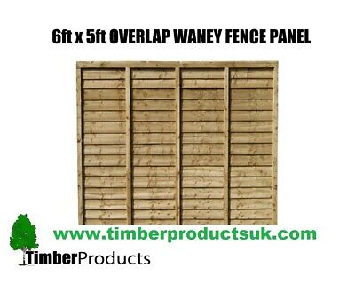 **PACK OF 10** 6ft x 5ft Waney lap fence panel Special Offer 6x5 lap