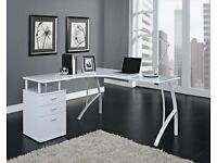 White office desk and drawers - RRP £109
