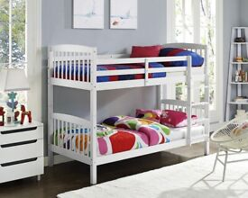 SALE ON FURNITURE-SINGLE WOODEN BUNK BED FRAME w OPTIONAL MATTRESS-ORDER NOW