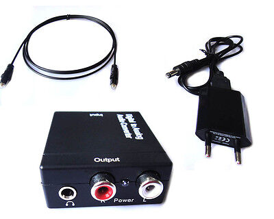 WGF Optical Toslink Coaxial Digital to Analog Audio Converter Adapter RCA L/R TV