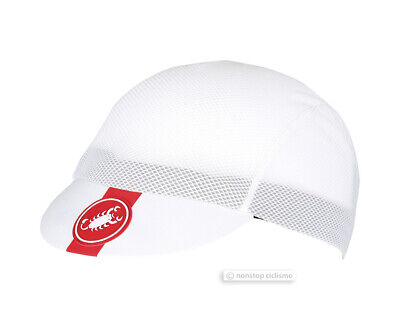 Castelli A/C Ultralight Summer Vented Bicycling Cycling Cap WHITE