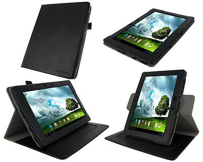 rooCASE Dual-Axis (Black) 100% Genuine Leather Folio Case Cover