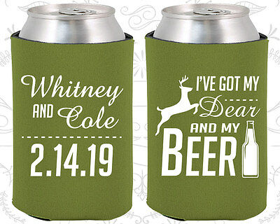 Inexpensive Wedding Favor Ideas (Wedding Favor Koozies Cheap Beer Can Koozie Ideas (295) Deer)