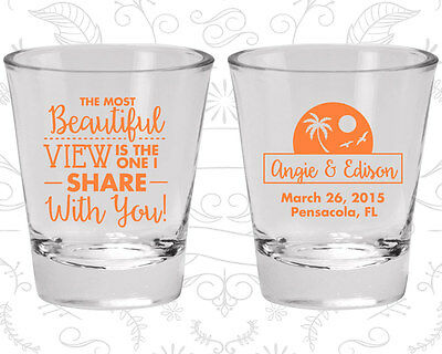 Wedding Shot Glasses Personalized Shot Glass (375) Summer Wedding Favors](Personalized Shot Glass Wedding Favors)