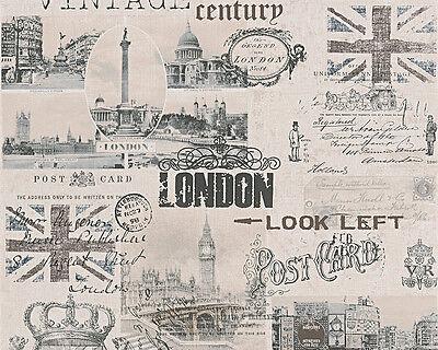 As Creation Papel Pintado Auténtico Walls 95205-2 London Vintage Ciudad