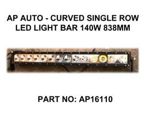 AP AUTO - Curved Single Row LED Light Bar 140W 838MM Fyshwick South Canberra Preview