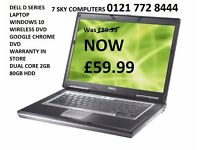 L@@K L@@K WOW DELL D SERIES LAPTOP WIRELESS DVD WINDOWS 10 WARRANTY IN STORE