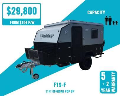 Fantasy 11ft Off Road Caravan Pop Top Camper Hybrid Bunks Hamilton Brisbane North East Preview