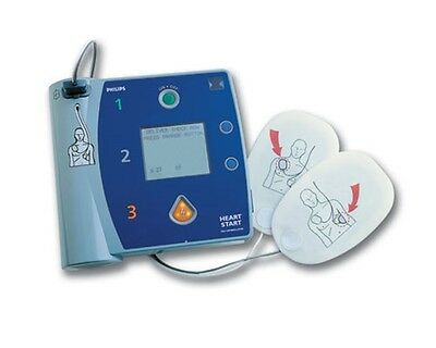 Philips Heartstart Fr2 Aed W Ecg On Screen Battery Pads Case Biocertified