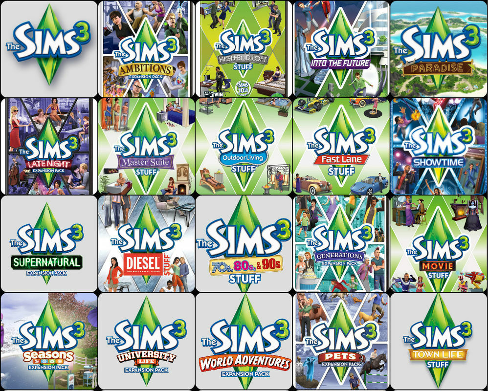 The Sims 3 Complete Collection & ALL Expansions / Windows / ALL Packs