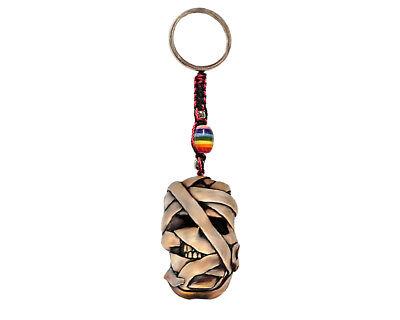 Mummy Monster Halloween Handmade 3D Keychain Macrame Metal Keyring Car Bag Charm (Cars Halloween Bag)