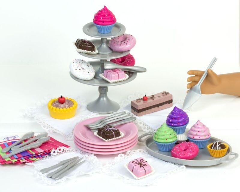 "42 Piece Dessert Set works for 18"" American Girl Dolls Food Accessories"
