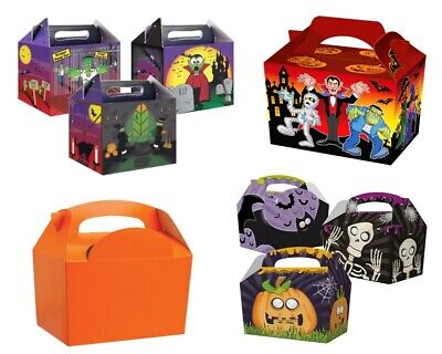 Halloween Food Meals (SPOOKY HALLOWEEN PARTY MEAL BOXES - KIDS CHILDREN TRICK OR TREAT FOOD SWEET BAG)