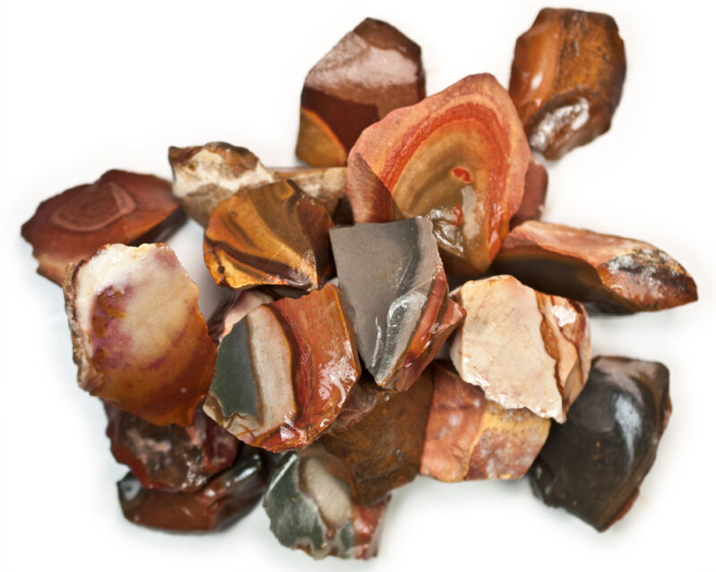 1 lb Wholesale Desert Jasper Rough Stones - Tumbling Tumbler Rocks, Reiki, Wicca