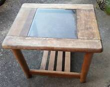 Coffee or Side Table with glass top old style - project Marcoola Maroochydore Area Preview